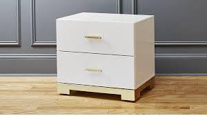 odessa white gloss nightstand bedroom furniture cb2 peg