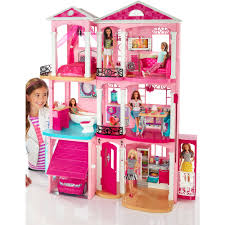 kidkraft sparkle wooden dollhouse with 30 pieces of furniture walmartcom barbie furniture for dollhouse