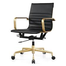 200 dix office chair in gold and black leatherette overstock shopping the best prices bedroommagnificent office chair performance quality