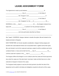 assignment of lease form pdf word eforms assignment of lease form pdf word fillable forms