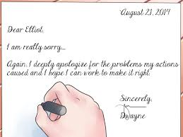 writing an apology letter to a friend apology letter 2017 apology
