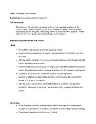 customer service job duties resume resume examples  full image middot