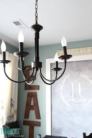 found this awesome inexpensive chandelier on amazon its simple and perfect for my amelie distressed chandelier perfect lighting