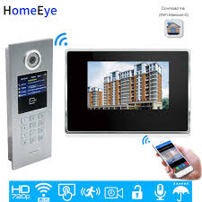 <b>HomeEye 7</b>'' Video Door Phone Video Intercom Multi Apartments ...