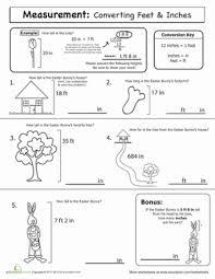 Spring Math: Measurement | Worksheet | Education.comEaster Spring Fourth Grade Measurement Worksheets: Spring Math: Measurement