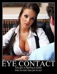 Eye contact - Humour Spot via Relatably.com