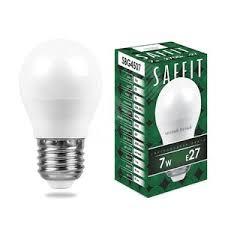 <b>Лампа светодиодная LED 7вт</b> Е27 теплый матовый шар (SBG4507)