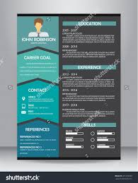 job resume cv template layout template stock vector  job resume or cv template layout template in a4 size vector illustration