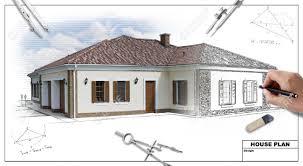 House Plan Blueprints   Designer    s Hand Stock Photo  Picture And    Stock Photo   House plan blueprints   designer    s hand