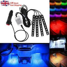 <b>LED Car</b> Interior Kit Glow Under Dash <b>Foot</b> Well Seats Inside Light ...