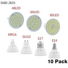 10PC Bright E27 E14 MR16 <b>GU10 Lampada LED Bulb</b> 220V ...