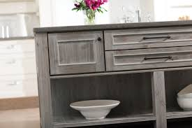 limed oak kitchen units: weathered gray kitchen cabinetry finishes both painted and