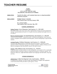 teacher resume template word model resume for teachers