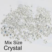 <b>1440pcs SS3</b>-<b>SS16</b> Mix Small Sizes Shiny Clear Rhinestones DIY ...