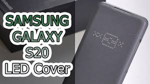 ОБЗОР | <b>Чехол LED Cover</b> для <b>Samsung Galaxy</b> S20 - YouTube