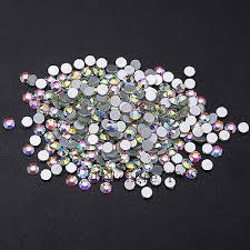 Crystal Clear <b>White AB Flatback</b> Rhinestone Non Hotfix 3D Nail Art ...