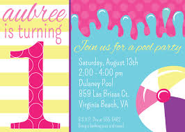 1st birthday invitations templates drevio invitations design swim float 1st birthday invitations templates