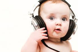 Image result for baby with headphones