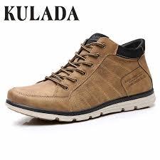 <b>KULADA</b> Newest Men Warm Casual Boots <b>High Quality</b> Leather ...