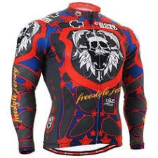 <b>Cycling jersey skull</b> t shirt biking clothes top for <b>men</b> S~3XL | Cycling ...