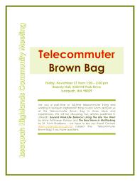 telecommute issaquah highlands telecommuter brown bag meet up
