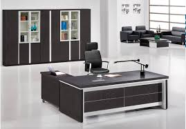 dangling desktop black executive office table design black office table