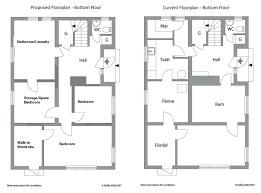 Floorplan   Our Renovation BlogGround Floorplan   comparison