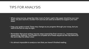 tips for writing literary analysis plot summary vs plot tips for analysis 61600 when using sources remember that most of what is said in