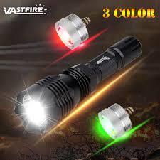 (Green/Red/White) <b>VA</b>-<b>802</b> Hunting <b>Flashlight Rechargeable</b> battery