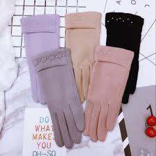 Модные женские осенне-зимние <b>теплые</b> кашемировые <b>перчатки</b> ...