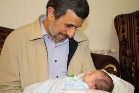 Ahmedinejad'ın torun sevinci