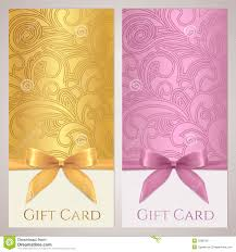 voucher gift certificate coupon template bow royalty stock gift certificate gift card coupon template stock image