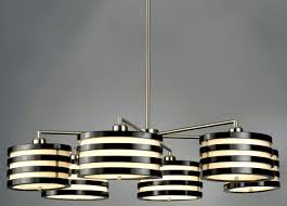 cool stripes cylinder modern chandelier lighting black white shade shapes brushed nickel finish downlight 6 light cheap contemporary lighting