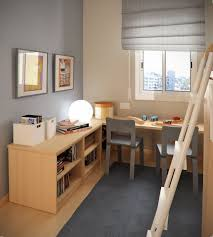 fancy kids twins style study room with gray chairs and wooden bookcase and study desk biege study twin kids study room