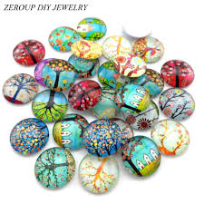 ZEROUP Glass <b>Cabochon</b> 12mm 10mm <b>Mixed</b> Round Photo <b>Cameo</b>...