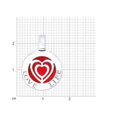 Серебряный кулон <b>SOKOLOV</b> 94031506_s c эмалью — купить в ...