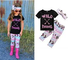 2019 <b>2017</b> Newest Girls <b>Childrens Clothing</b> Sets Short Sleeve ...