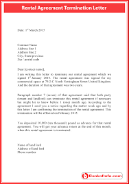 rental agreement termination letter sample rental termination letter to tenant