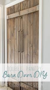 Closet Barn Doors Best 25 Double Barn Doors Ideas On Pinterest Double Sliding