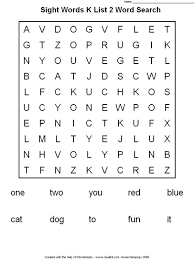 Sight words, Kindergarten sight words and Kindergarten on Pinterestkindergarten sight words | Word Search (printable worksheet)