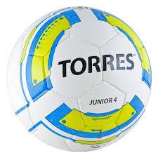 <b>Мяч футбольный TORRES Junior-4</b>, размер 4 (F30234), бело ...