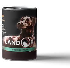 <b>LANDOR Консервы</b> для Пожилых собак <b>Ягненок</b> с Кроликом 400 гр