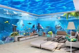 <b>3d room wallpaper custom</b> murals non woven wall sticker sea World ...