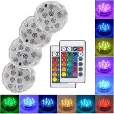 Online Shop 10 <b>Led Remote Controlled RGB</b> Submersible Light ...