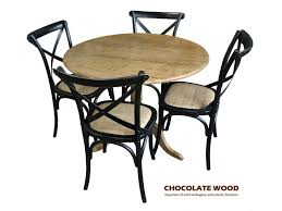 round back dining chairs nordic d 75cm stunning solid oak round dining table with