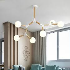 2019 <b>Creative Nordic LED</b> Ceiling <b>Lamp</b> Chandelier With Glass Ball ...