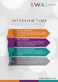 ensuring job interview success rwa people industry news and job interview infographic