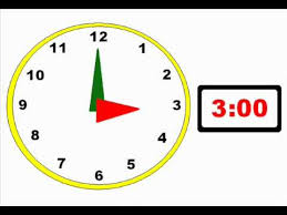 Telling the Time in Hours