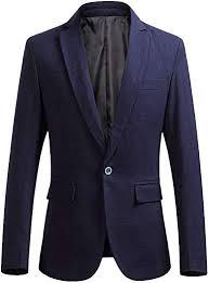Zhiyuanan <b>Men's Business</b> Jacket <b>Large Size</b> One Button Smart ...