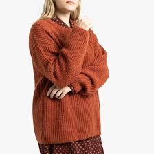 Пуловер с воротником-стойкой красный/ кирпичный <b>La Redoute</b> ...